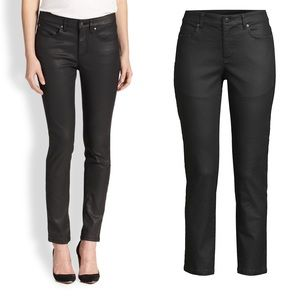 Eileen Fisher Coated Skinny Ankle Organic Cotton